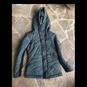 Zella green/black puffer coat